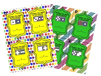 Domino Multiplication Bundle- Times Tables (0-4) and (5-9)