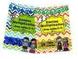 Domino Multiplication Bundle- Times Tables (0-9) Set 1 and Set 2