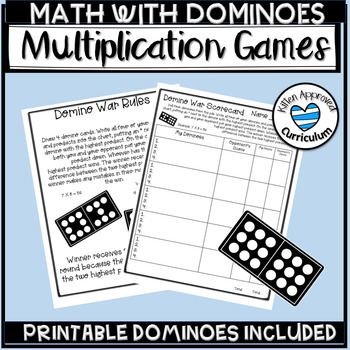 picture relating to Multiplication Games Printable known as Domino Multiplication Online games Printable Dominoes Math Things to do