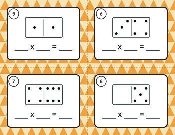 Domino Multiplication Task Cards