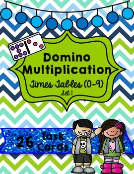 Domino Multiplication- Times Tables (0-9) Set 1