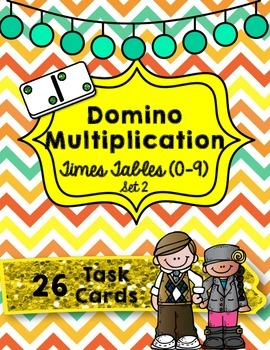 Domino Multiplication- Times Tables (0-9) Set 2