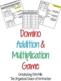 Domino 1-2 Digit Add/Multiply Game-Printable 1-15 Dominoes Included!