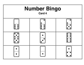 Domino Number Bingo