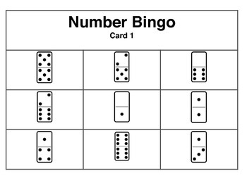 Domino Number Bingo