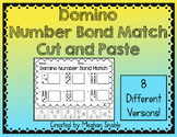 Domino Number Bond Match, Cut and Paste- Common Core Aligned, ENY Supplement