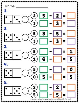 Domino Number Bonds - Subtraction