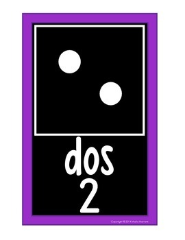 Domino Number Cards 0-20 EN ESPAÑOL {Black Series}