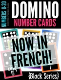 Domino Number Cards 1-20 Black Series {French Version}
