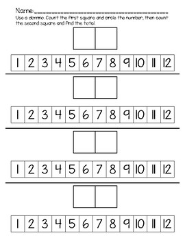 Domino Number Line Addition