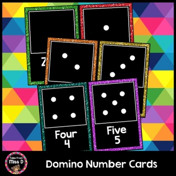 Domino Number Cards