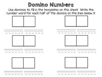 Domino Numbers Activity