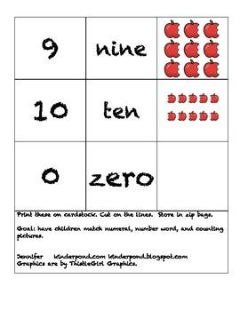 Domino Numbers- Apples