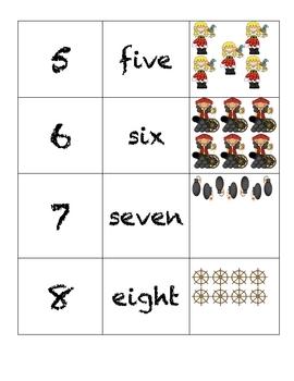 Domino Numbers- Pirate
