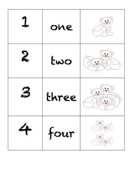 Domino Numbers- Polar Bears