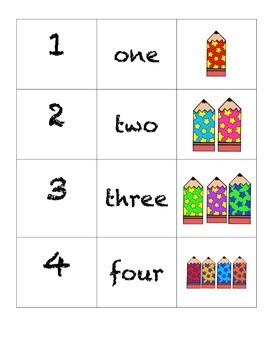 Domino Numbers- Star Pencils