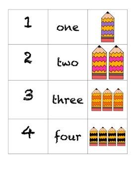 Domino Numbers-Waky Pencils