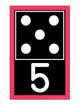 Domino Numeral Cards 0-20 {Black Series}
