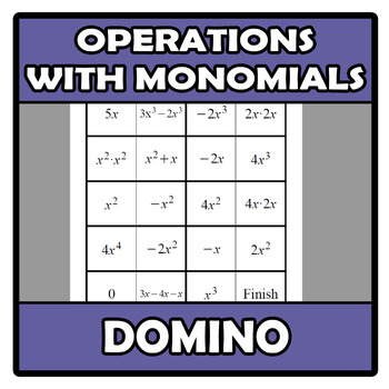 Domino - Operations with monomials (TARSIA)