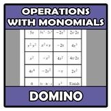 Domino - Operations with monomials (TARSIA)