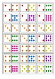 Domino Parking Game with coloured Dominos
