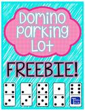 Domino Parking Lot Math Center FREEBIE