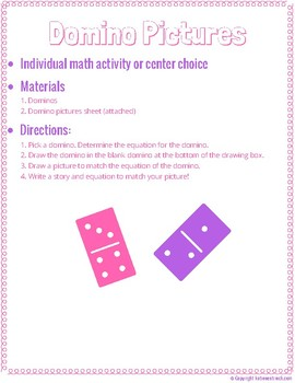 Domino Picture (Individual Math Activity or Center Choice)