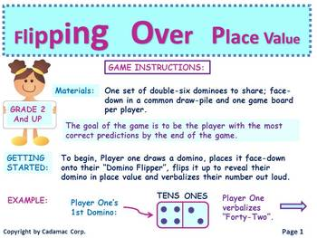 Place Value Domino Math Game