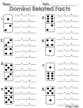 Domino Related Facts Activity- Common Core Aligned- ENY Supplement