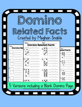 Domino Related Facts Activity-  ENY Supplement