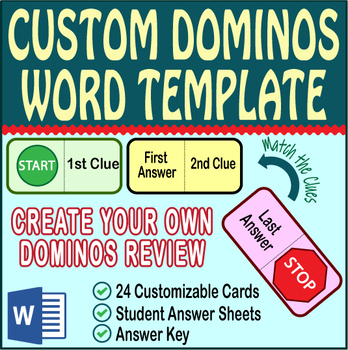 Domino Review Activity ~EDITABLE TEMPLATE~ All Subjects