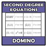 Domino - Second degree equations (TARSIA)