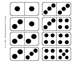Domino Set: 32 Double Tiles for Subitizing and Math Operations