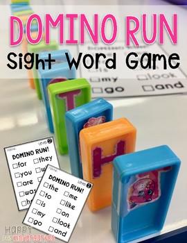 Domino Sight Word Game: Domino Run!