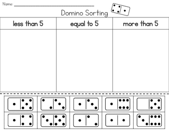 Domino Sorting - less than, equal to, more than