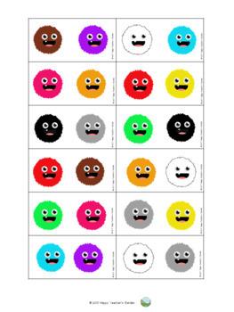 Domino Spiel - Farben