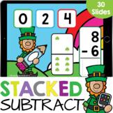 Domino Stacked Subtraction up to 10 Clovers Kindergarten M