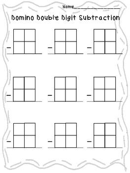 Domino Subtraction Double Digit