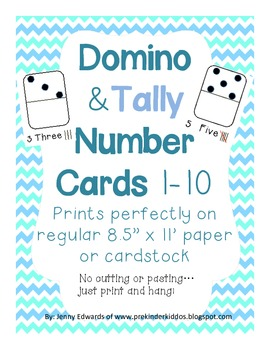 Domino & Tally Number Cards (Wall Posters)