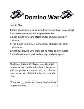 Domino War Math Game