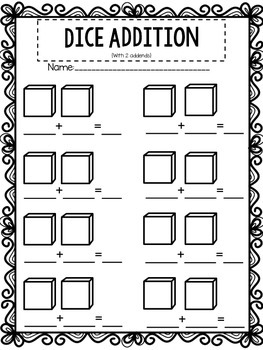 Blank Domino and Dice Recording Sheets {Addition & Subtraction}