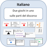 Domino and memory game, Parts of Speech in Italian