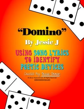 """Domino"" by Jessie J Figurative Language Poetic Devices Activity"