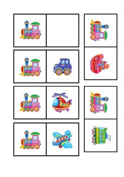 Domino cards - transport