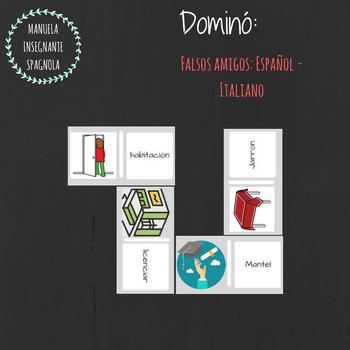 """Dominó completo de """"Falsos amigos"""": Español - Italiano"""