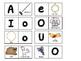 Domino de las vocales, español Dual Language