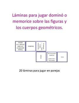 Dominó figuras y cuerpos geométricos.