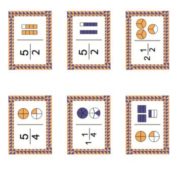Domino fractions