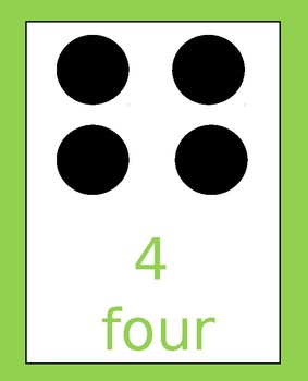 Domino number cards 1-10