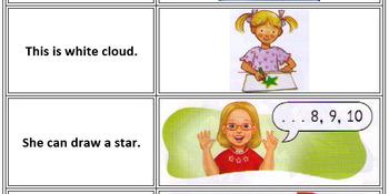 50 card Sentence Dominoes -  for Let's Go 1)